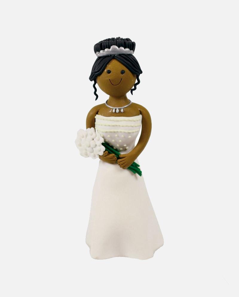 Clay Dough Contemporary Bride (Black) - Cakes & Sugarcraft Supplies