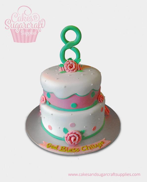 God Bless Birthday Cake