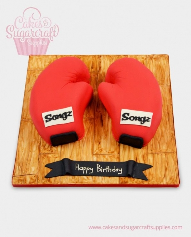 Boxing Gloves Birthday Cake