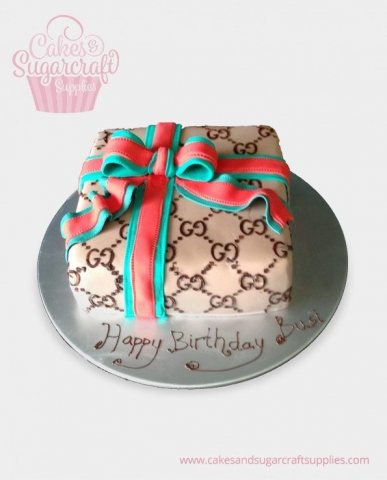 Ribbon Gift Birthday Cake