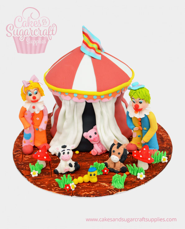 Clown Circus Birthday Cake