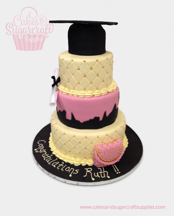 Skyline Graduation Cake