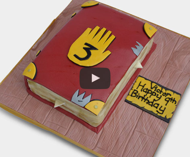 How to make Gravity Falls Journal 3 cake - Cakes & Sugarcraft Supplies