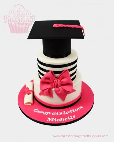 Pink Box Graduation Cake