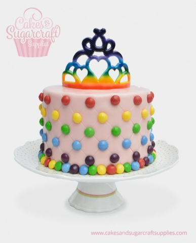 Smartie Crown Tiara Birthday Cake