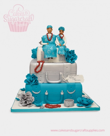 Nigerian Suitcase Wedding Cake