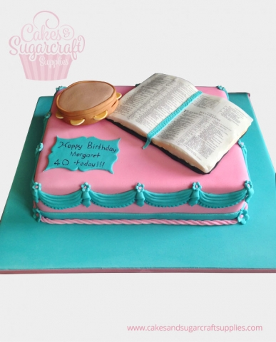 Tambourine Bible Cake