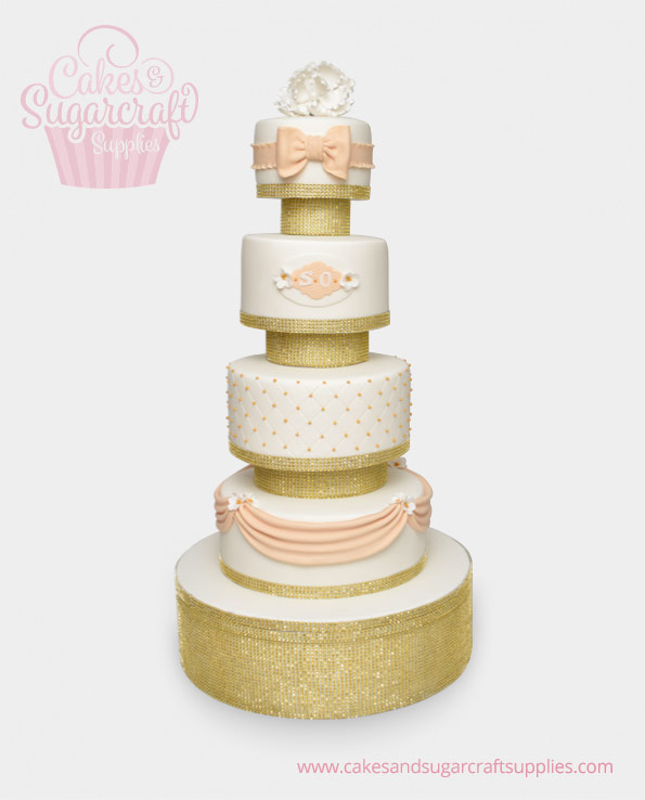 Champagne and Gold Wedding cake