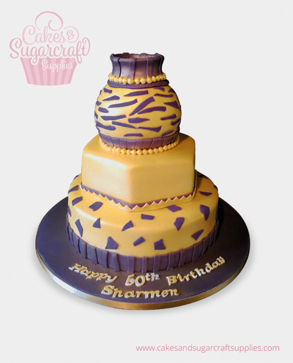 African Pot Birthday Cake