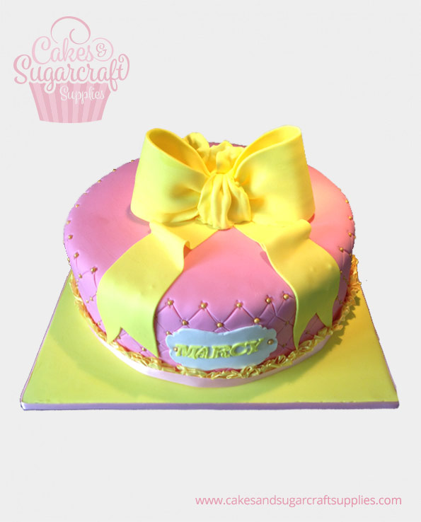 Yellow Ribbon Birthday Cake