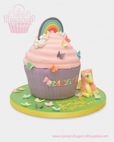 Rainbow dash giant cupcake