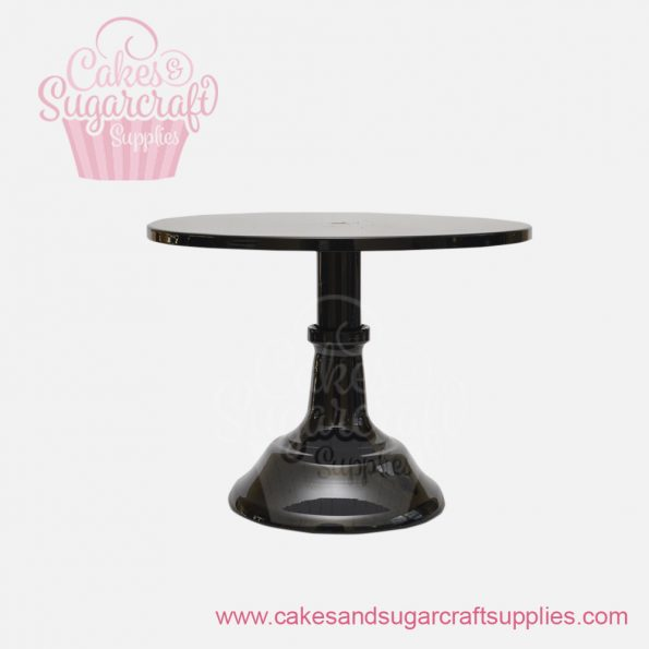Black 10 inches painted metal cake stand