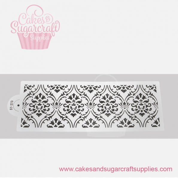 New Alexandra Damask Lace Cake stencil-ST-273
