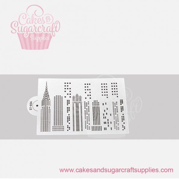 Skyline-Cake-Stencil-ST-836
