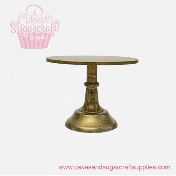 Gold 10 inches painted metal cake stand