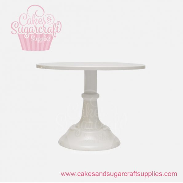 White 10 inches painted metal cake stand