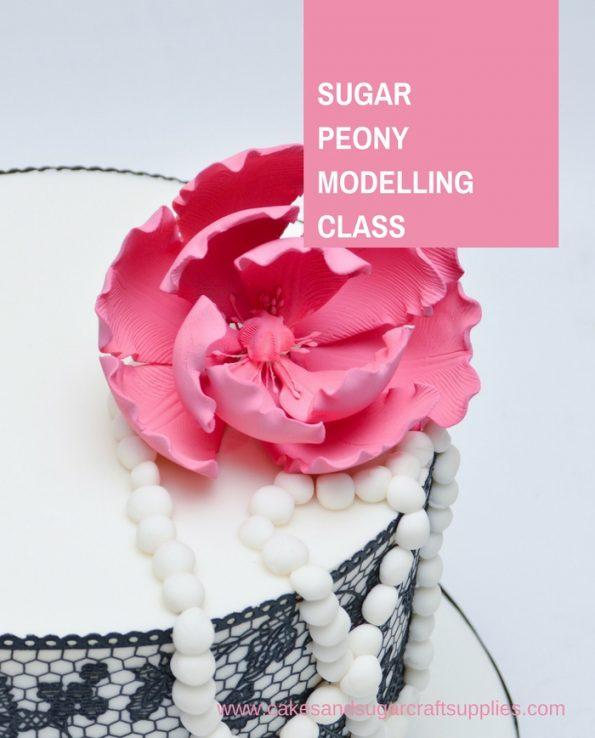 Sugar Peony Flower Modelling Class