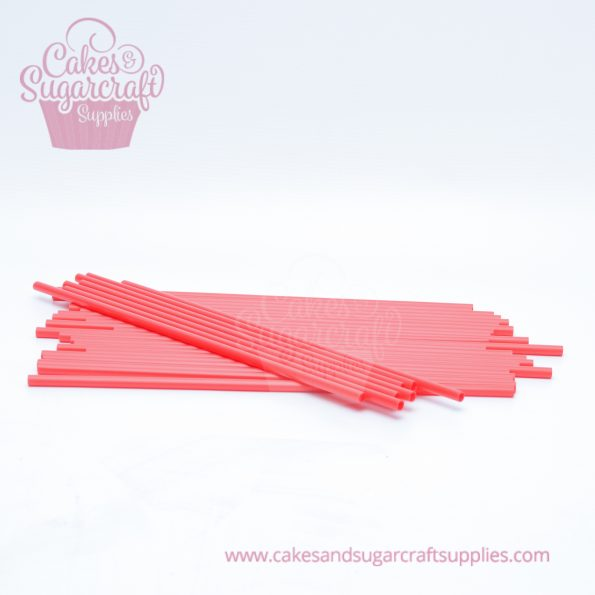 10 Red poly cake dowels